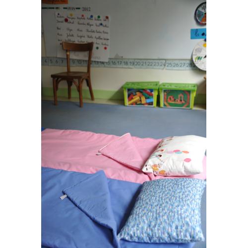 Sac de couchage école rose