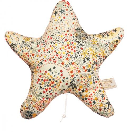 Boite à musique liberty étoiles multicolores