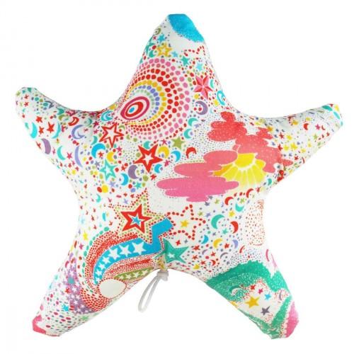 Baby music box in Liberty fabric stars