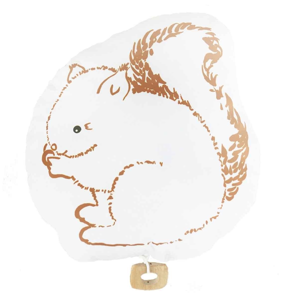 Coussin à musique bébé écureuil