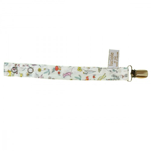 Attache tétine en tissu Liberty Alice rose