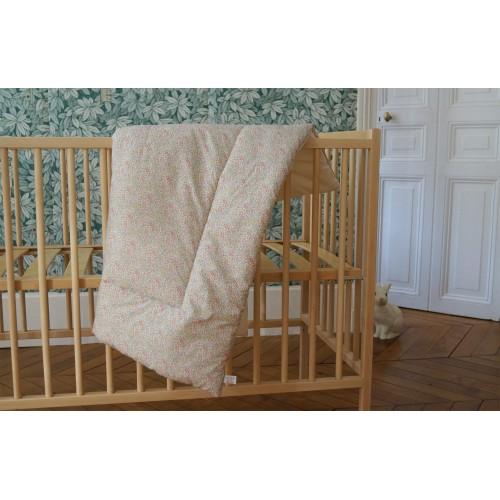 Tapis de jeu carré pour bébé en coton moelleux Liberty Katie et MIllie