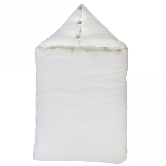 Nid d ange blanc en mousseline de coton