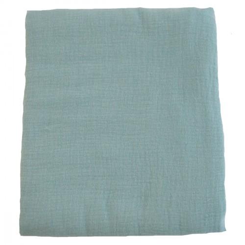 Housse de tapis de jeu en mousse en mousseline de coton bleu