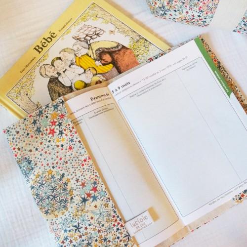 Protège carnet de santé Liberty Etoiles multicolores