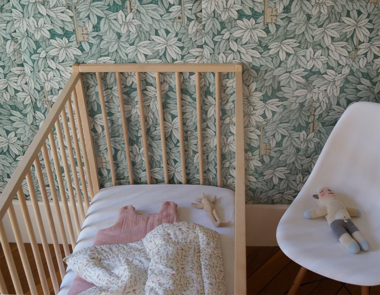 Drap housse bébé en percale de coton écru
