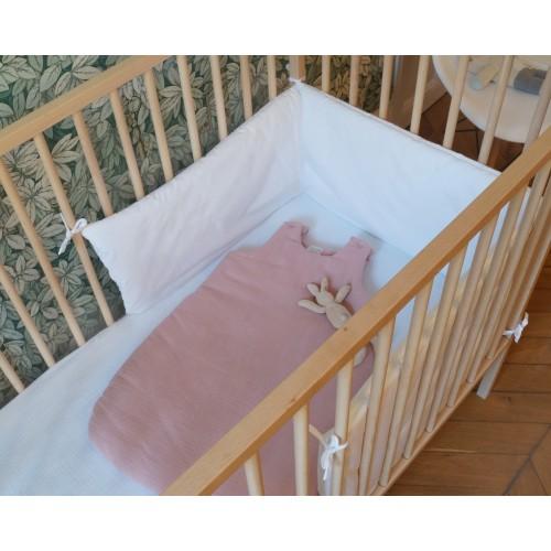 Drap housse bébé en coton écru