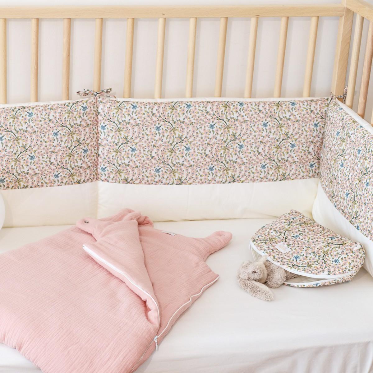 Tour de lit bébé fille liberty Empress rose