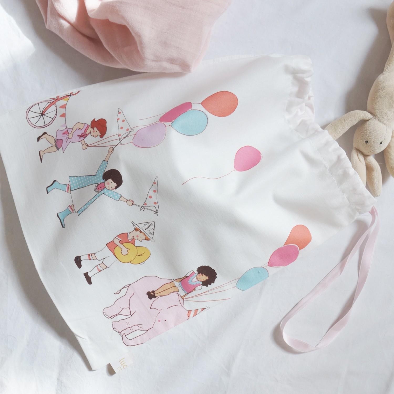 Petit sac pour l'école en coton Parade