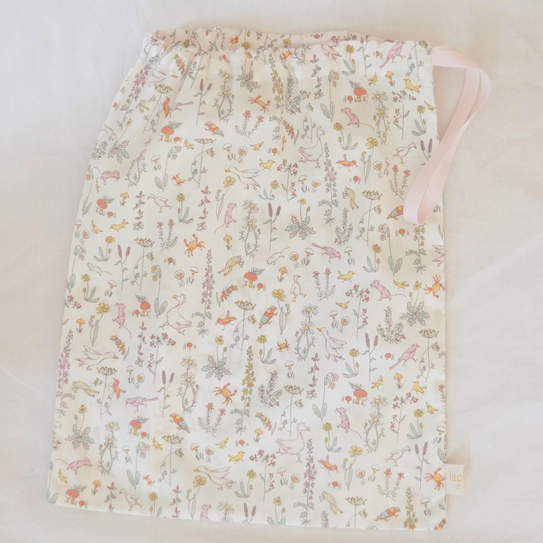 Petit sac en coton Liberty Alice rose