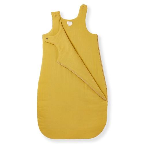 Gigoteuse hiver 6 12 mois en gaze de coton jaune safran TOG 2