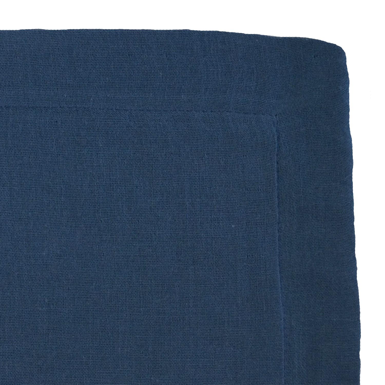 Taie d'oreiller en gaze de coton bio bleu profond