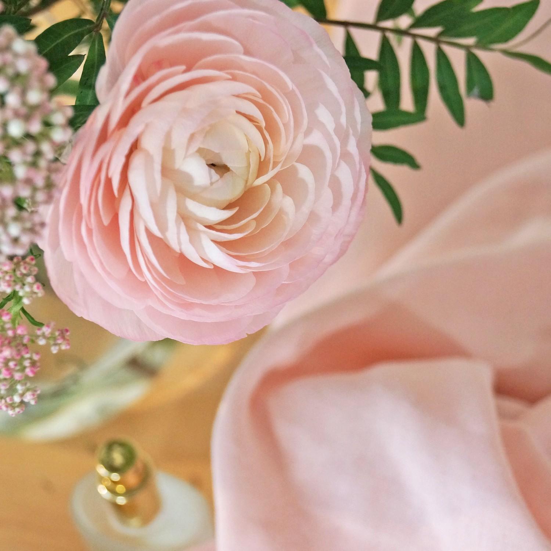 Lange en gaze de coton bio rose poudre