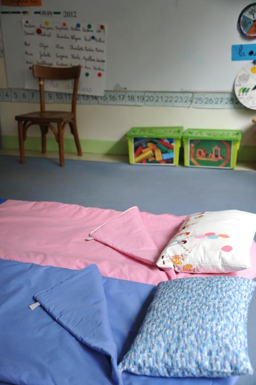 Sac de couchage école maternelle rose