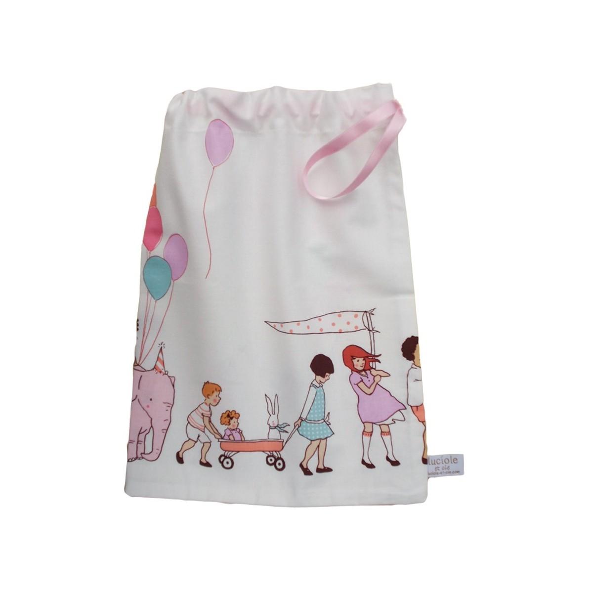 petit sac en coton parade ecole maternelle. Black Bedroom Furniture Sets. Home Design Ideas