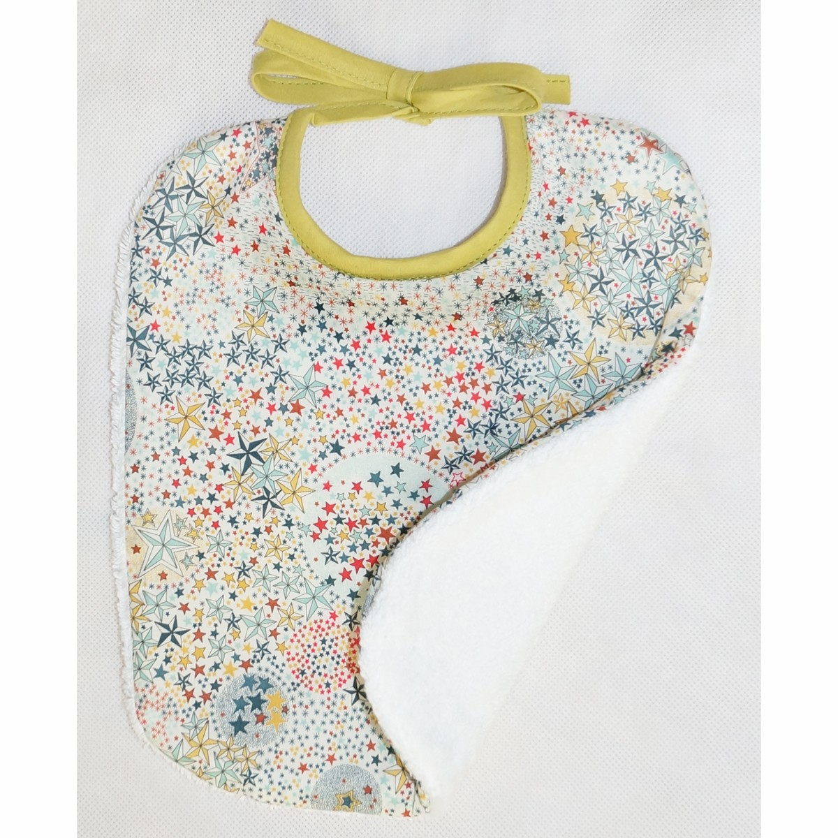 Bavoir bébé Etoiles Multicolores