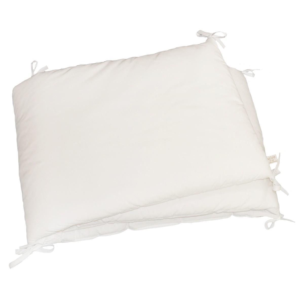 tour de lit bébé blanc uni Tour de lit blanc en percale de coton   Fabrication française tour de lit bébé blanc uni