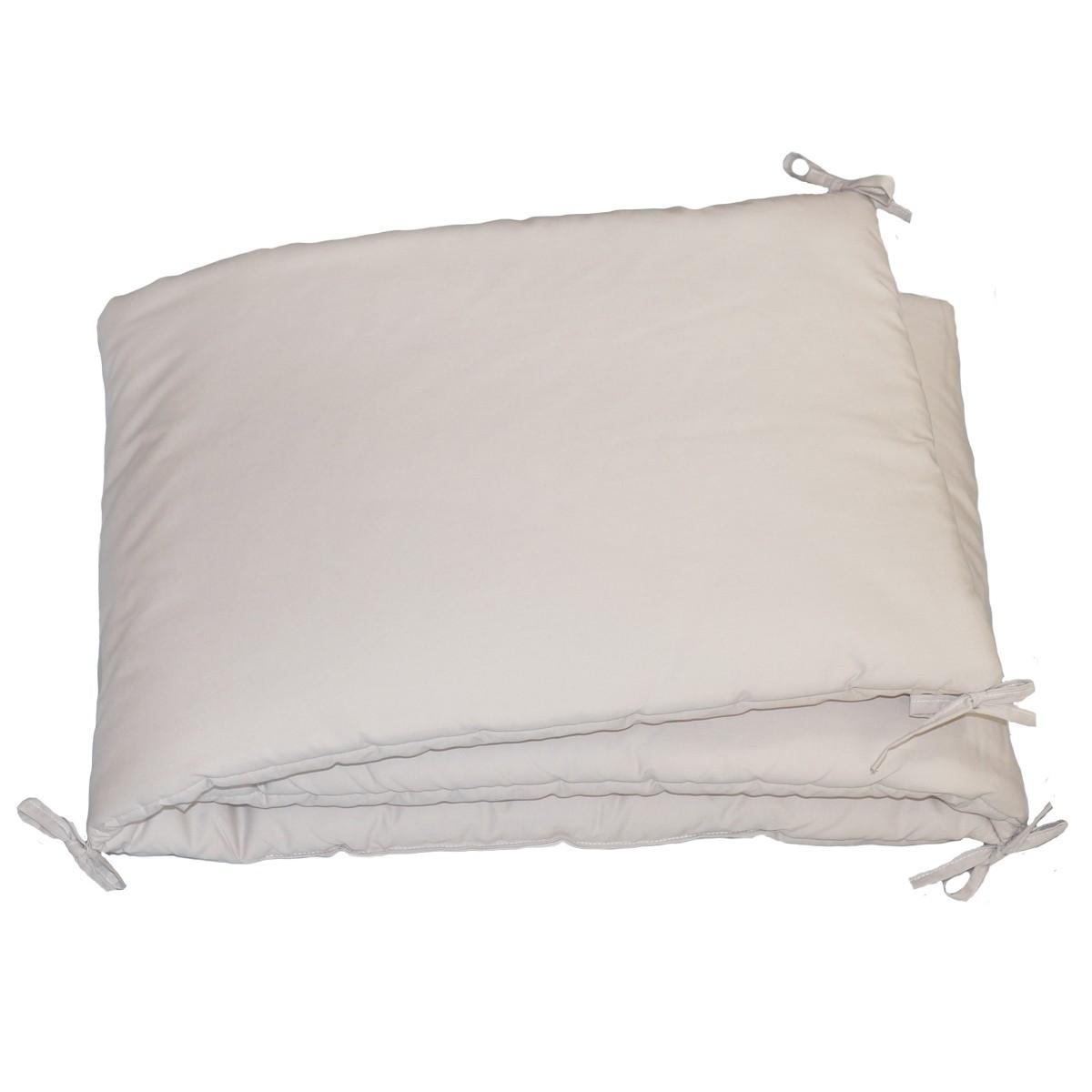Baby Bumper Light Grey Cotton - Luciole et Cie