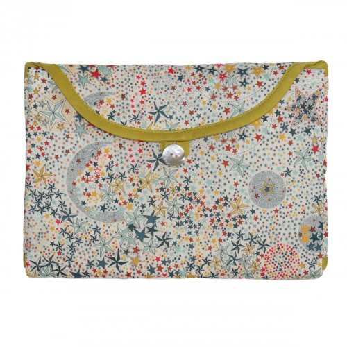 Fold and Go Liberty London multicolored stars waterproof baby changing pad