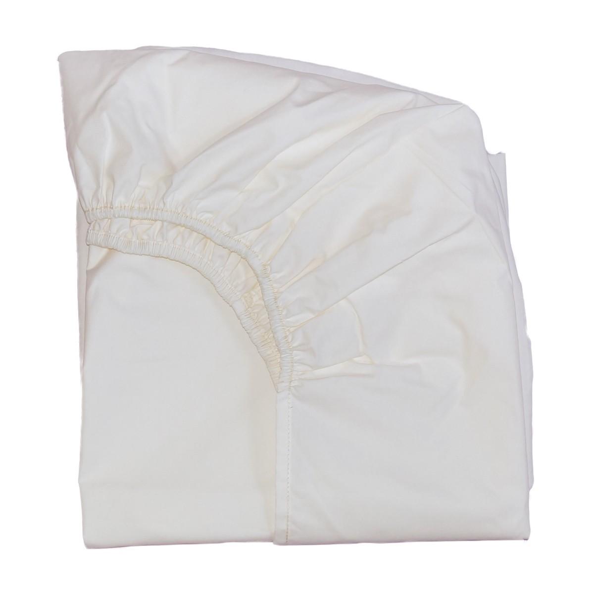 Drap housse cru en percale de coton pour lit barreaux b b - Drap housse 60x140 pour bebe ...