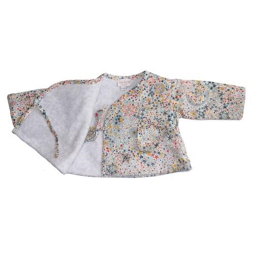 Veste cache-coeur bébé Liberty étoiles multicolores