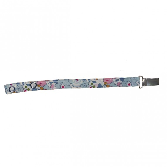 Pacifier Clip with Betsy Liberty fabric