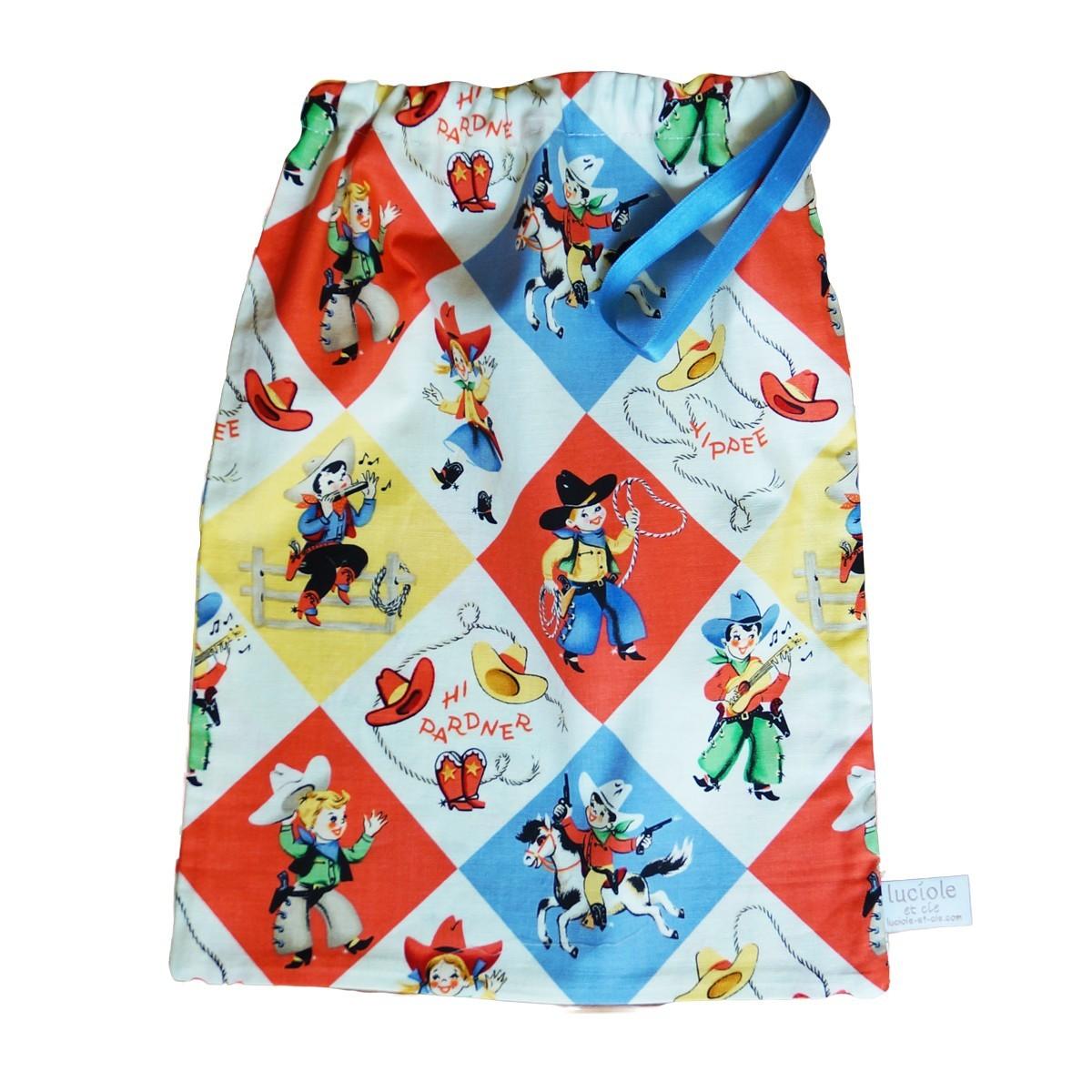 petit sac en coton cow boy luciole et cie